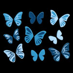 483 New butterfly blue