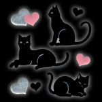 612 Black cat heart