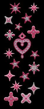 APS03 Heart & star pink