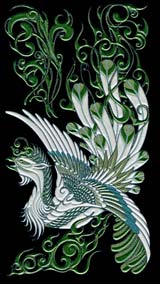 k096Chinese phoenix (Large-Green)