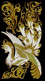 kO95Chinese phoenix (Large-Gold)