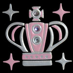 p015sPink Silver S One Crown