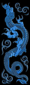 K058 Hokusai Dragon Blue right