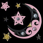 tp02sTattoo Pink S Moon 22x22mm 540